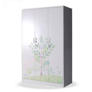 Cheap 3 Doors metal clothing locker Wardrobe Steel Almirah Cabinet Design wholesale