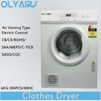 Buy cheap OlyAir air vented clothes dryer 6Kg electric control OZ60-16EW Australia from wholesalers