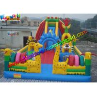 Cheap PVC tarpaulin Inflatable Amusement Park Customized , Jumping Castles For kids wholesale