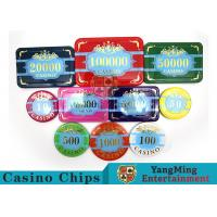 Cheap Custom Acrylic Casino Poker Chip Set , New Style Poker Set With Numbered Chips wholesale