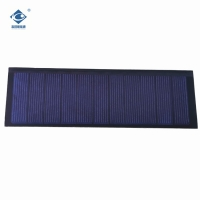 Cheap 5.5V thin film solar panel for home power solar system ZW-14045-P transparent solar panel 0.8W wholesale