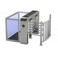 Cheap Semi Automatic Security Half Height Turnstile Compatible IC / ID Card wholesale