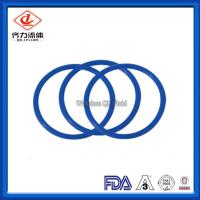 Cheap Blue Tri Clamp Gasket FVMQ / Fluorosilicone O Ring Sanitary Screen Gaskets wholesale