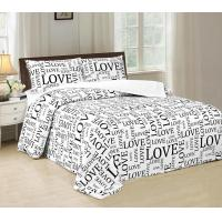 Disperse Printed Four Piece Bedroom Set No Bleaching With PVC Booking Packing