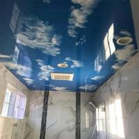 China Stretch PVC Ceiling Film Blue Sky Starry Night With Fluorescent Lights on sale