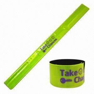 Cheap Yellow Reflective Slap Bracelet, EN-471/13356 Passed, Measures 3 x 33cm wholesale