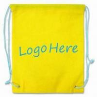 Cheap Drawstring Bag, Green Product, Made of 80g/m² Nonwoven Material wholesale