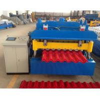 Cheap Steel Step Tile Making Machinery / Glazed Tile Cold Rolled Forming Machine wholesale