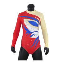 Cheap Stretchable Long Sleeve Gymnastics Leotards For Girls Sublimation Printing wholesale