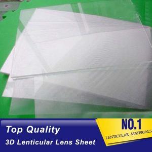 Cheap 3d 50 lpi lenticular sheet best 3d lens PET lenticular plastic film material for offset printer and digital printer wholesale