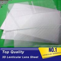 Cheap Clear Plastic Lenticular Printing Sheet Price Suppliers 60 LPI 3D Flip Lenticular Plastic Lens Blanks Ecuador wholesale