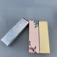 Cheap Customized Cosmetics Folding Packaging Box Lipgloss Paper box Luxury Custom Creative Lipgloss Packaging Box With Private wholesale