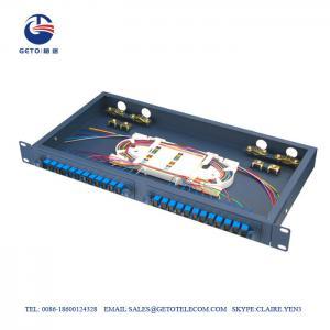 Cheap Sliding Type Empty Box FC ST Fiber Optic Patch Panel 24 Port wholesale