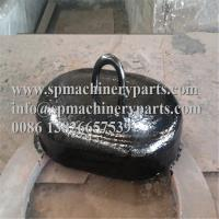 Cheap Supplier Direct Mooring Buoys Equipment Semi Circular Shape Grey Iron Cast Marine Buoy Sinker Weight 50KGS wholesale