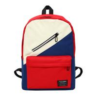 Cheap New Oxford waterproof cloth bag fashion cool slant zipper color students outdoor backpacks wholesale