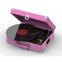 Cheap 2015 NEW Suitcase 3 speed USB turntable record player support MP3 encoding wholesale