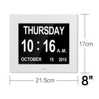 Cheap 8 Inch Video Brochure Card LED Digital Desk Electronic Perpetual Calendar Alarm Day Clock White Color/UL Adapter/Extra l wholesale