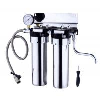 Cheap Stainless Steel Countertop Water Filter 2 Stage , 5L / Minute Flow Rate Ss Water Filter wholesale
