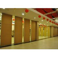 Cheap Plywood Vinyl Office Hanging Partition System Folding Walls For Hotel wholesale