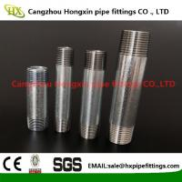 Buy cheap ASTM B1.20.1 NPT thread steel pipe nipple with hot dip galvanized from wholesalers