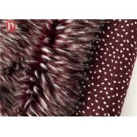 Cheap Wine Red Fake Fur Fabric , Ostrich Feathers Light Brown Faux Fur Animal Jacquard wholesale