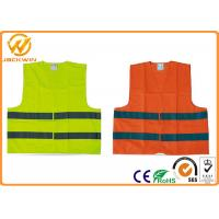 Buy cheap High Visibility Polyester Reflective Safety Vests Fluorescent Orange / Yellow from wholesalers