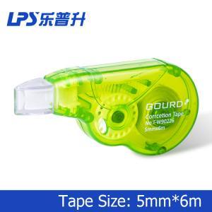 Custom Plastic Green Colored Correction Tape Mini Size 6M For Cover Error