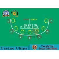 Cheap Anti - Fade Baccarat Table Layout For 10 Players In Casino Gambling Games wholesale