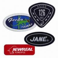 Cheap Woven Badges/Labels, Customized Shapes, Sizes and Designs are Accepted wholesale
