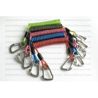 Cheap Heavy Weight Plastic Coil Lanyard , Coiled Tool Lanyard With Double 316 Stainless Steel Clips wholesale