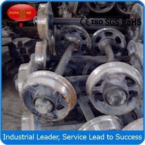 Cheap fixed car wheel sets , Cast steel mine car wheel sets , wheel sets for track transporting wholesale