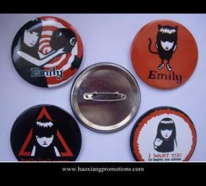 Cheap hot sale lovely gif tsmall tin button badge, tin button badge wholesale