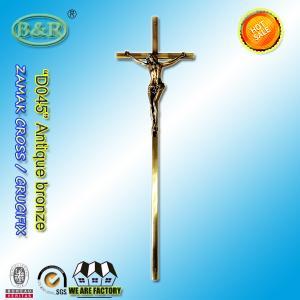 Cheap 56.7*15.8cm Catholic  Zinc Cross For metal Coffin Decoration D045 zamak crucifix European style antique bronze wholesale
