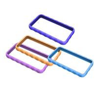 Cheap Blue / Purple Cell Phone Silicone Case, Bumper Cases For Apple IPhone OEM wholesale