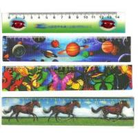 Cheap PLASTIC LENTICULAR Factory animated lenticular flip funny ruler-pet pp pvc soft Lenticular Flip 3D Rulers wholesale