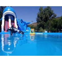 Cheap Ocean Theme Inflatable Combo Bounce House Attraction Slide Pool Water Games wholesale