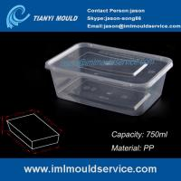 Buy cheap PP 750ml clear thin wall rectangular plastic containers mould manufacturer and from wholesalers