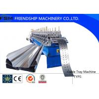 China Cable Tray Roll Cutting Machine 10~15m/min Speed For 1-2mm Thickness Steel on sale