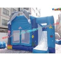 Cheap Blue Outdoor Inflatable Bouncer Slide Commercial With Castles wholesale