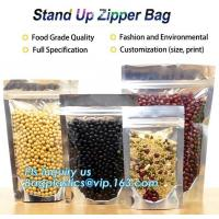 Cheap Snack Zipper Stand Up Pouch Food Flexible Zipper Packaging Square Bottom wholesale
