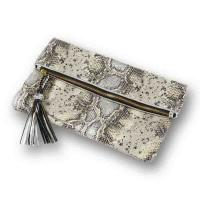 Cheap Small Tassel Womens Leather Handbags Soft Snake Leather Embossed Clutch for Party wholesale