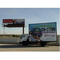 Cheap SMD5050 Led Mobile Billboard P10 / full color truck outdoor advertising led display wholesale