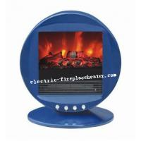 Portable Blue / Red Electric Fireplace Stove Chimney Free Electric Fireplace