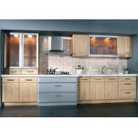 Cheap Cherry Wood Painting Veneer Kitchen Cabinets , Antique European Kitchen Cabinets wholesale