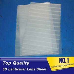 Cheap china factory 3d lenticular lens 0.45 mm thickness PP Plastic lenticular sheet 75 lpi 3d lenticular sheets Dominica wholesale