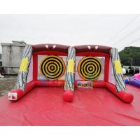 Cheap EN71 Inflatable Sports Games Carnival Inflatable Axe Throw Dart Axe Throwing Double Lane wholesale