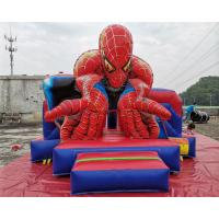 Cheap Commercial Spiderman Inflatable Bouncy Castle Slide Full Printing Combi Bouncer wholesale