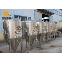 Side Manhole Conical Beer Fermenter 5000L With Dual Zone Cooling Jacket