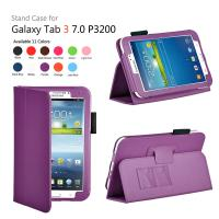 Cheap Purple Samsung Galaxy Tab Protective Case Folio With Folded Stand wholesale