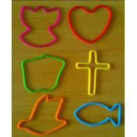 Cheap 190 mm Red / Yellow / Blue Silicone Elastic Rubber Bands, Silly Band Bracelets For Girls wholesale